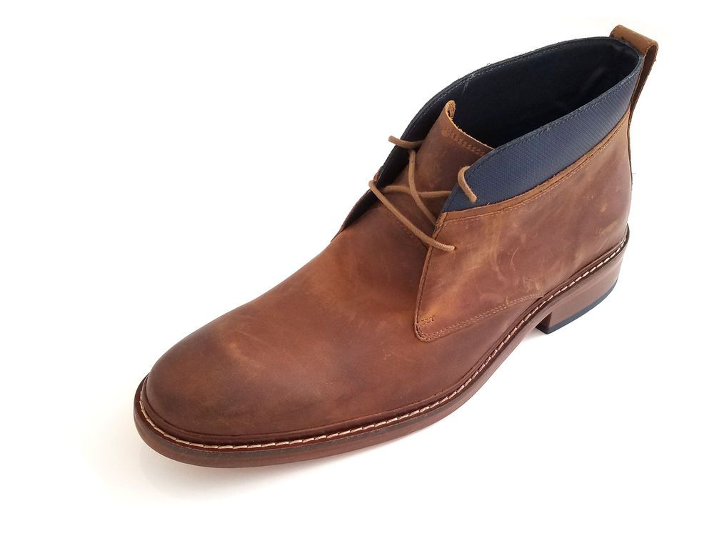 Cole Haan Men's Colton Winter Chukka Leather Boot Copper WR Brown C11771 #ColeHaan #AnkleBoots