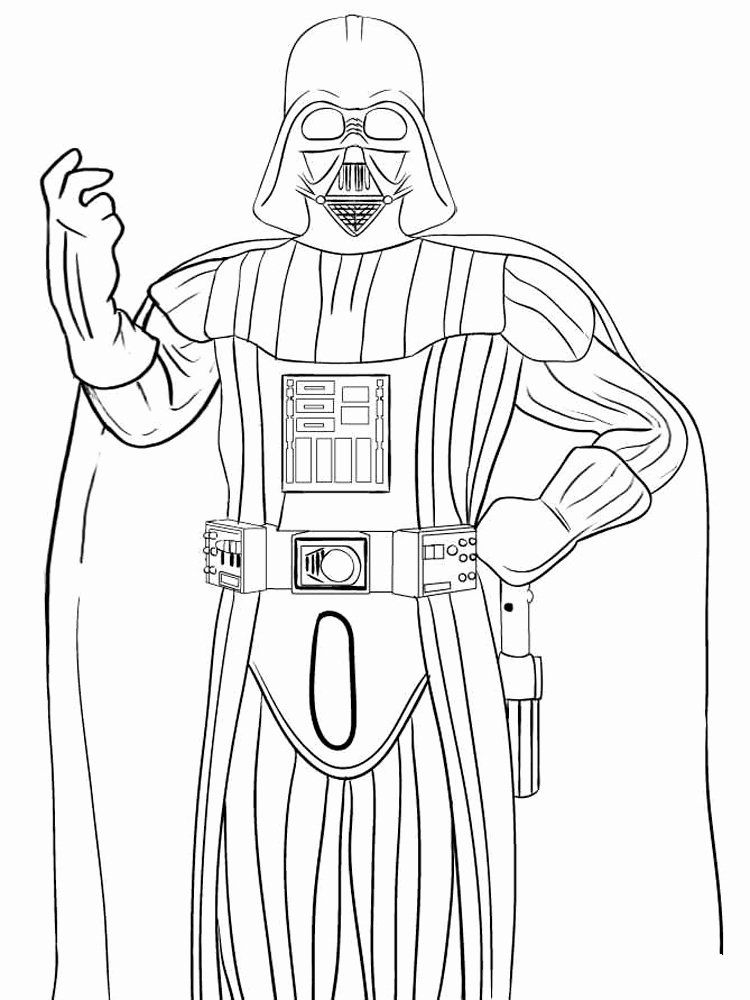 Darth Vader Coloring Book Beautiful Darth Vader Coloring Pages Free Printable Darth Vader In 2020 Baby Coloring Pages Spiderman Coloring Unicorn Coloring Pages