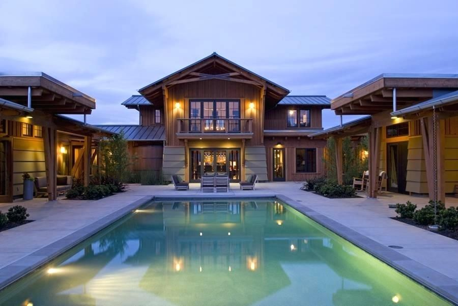 U Shaped House Plans With Pool Perfect U Shaped Ranch House House Design And Office Ideas For U L Shaped House Plans With Pool แบบบ านภายนอก ออกแบบบ าน บ าน