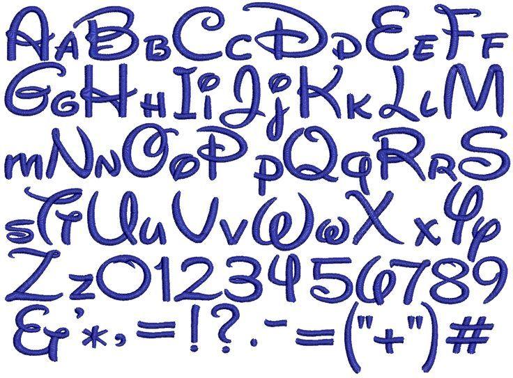 alfabeto minuscolo della walt disney - Cerca con Google ...