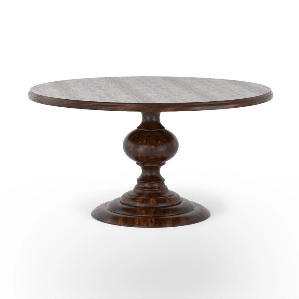 Magnolia Round Dining Table Dark Oak Round Dining Table