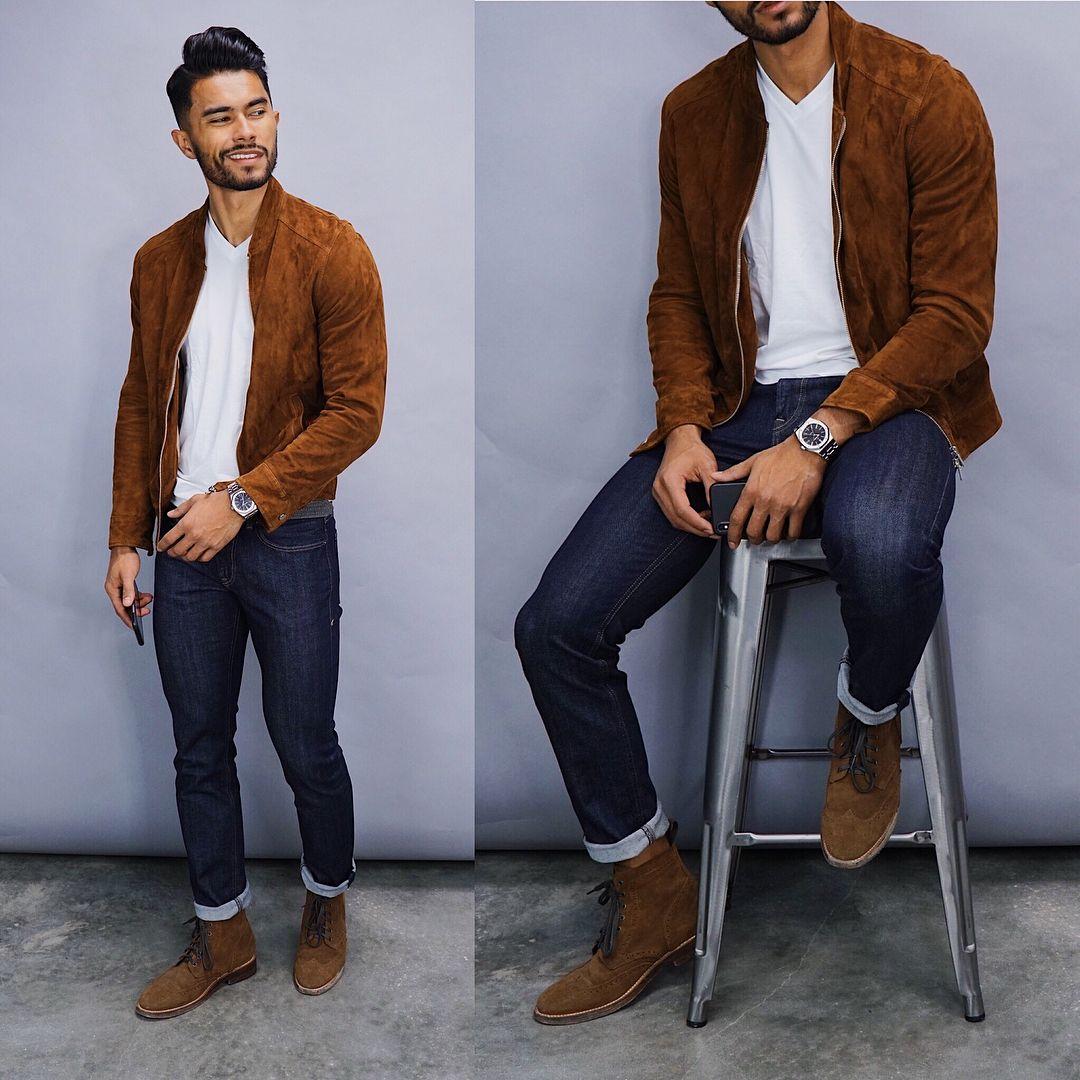 La Imagen Puede Contener 1 Persona De Pie Y Calzado Jackets Men Fashion Mens Fashion Casual Outfits Fall Outfits Men [ 1080 x 1080 Pixel ]