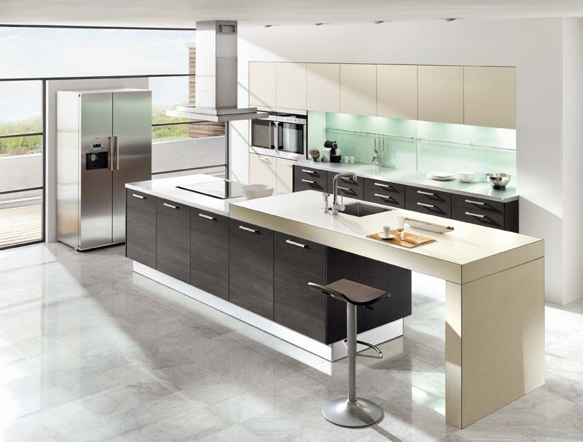 Pronorm German Kitchens - Y-Line Gloss White Kitchen - Handleless - magnolia hochglanz k che