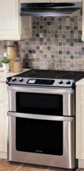 Sharp Kb4425lk Slide In Electric Range With Microwave Drawer Auto Opening True European Convection Cooking Front Mounted Gl Lcd Touch Controls