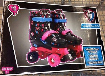 d49f15937c Monster High Girls ROLLER SKATES NEW Fits US Girls Size 1-4 Adjustable