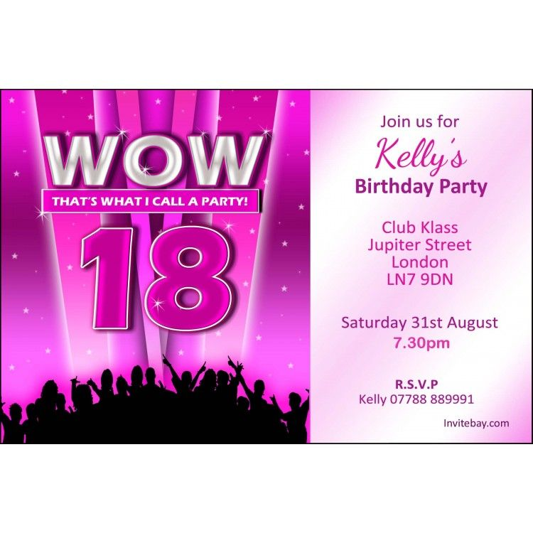 18th Birthday Party Invitations | Home » Personalised Girl 18th ...