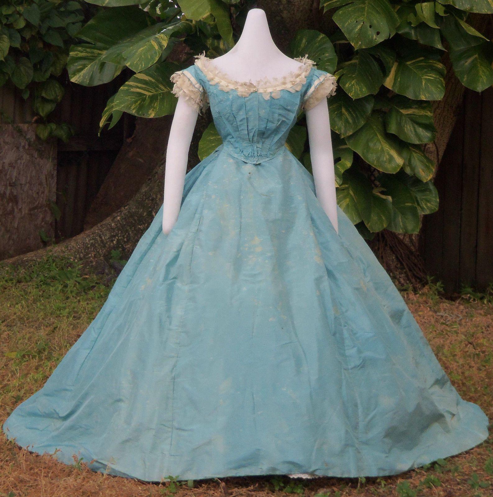 Original civil war era ball gown c old beauty simple times