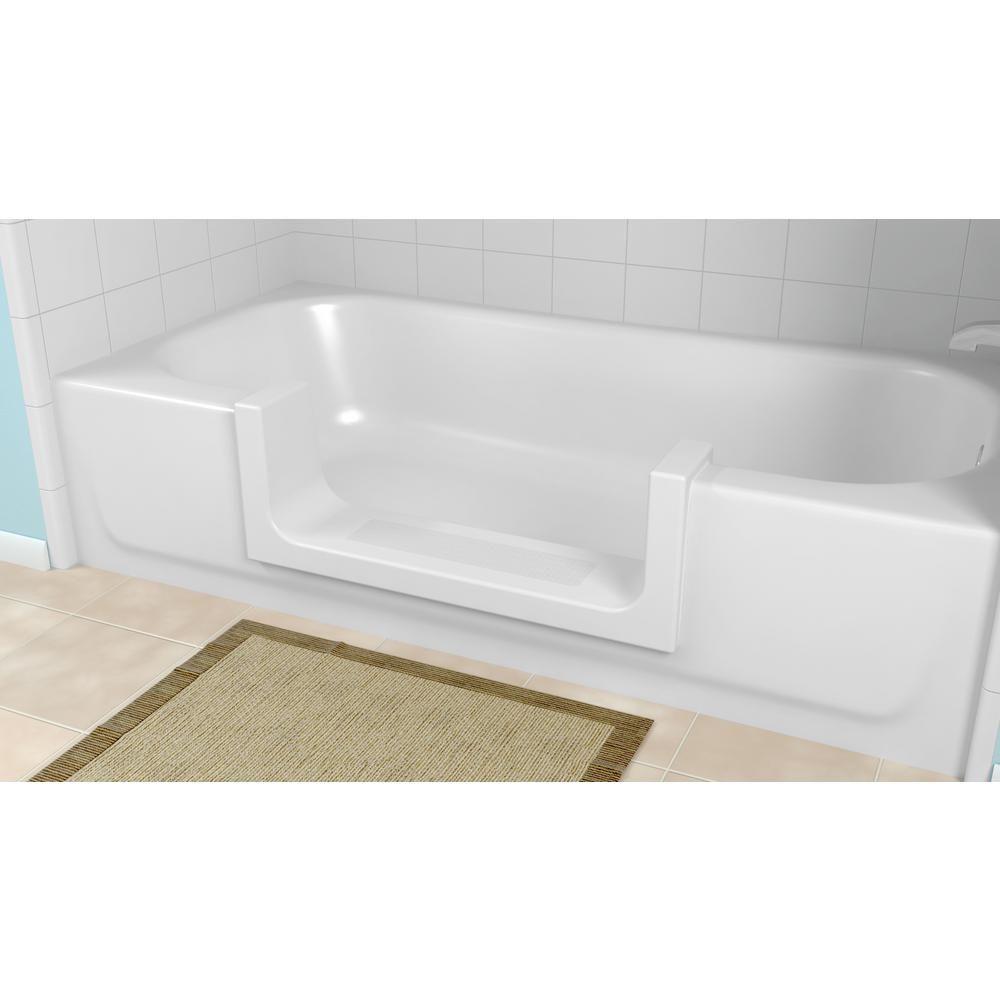 Cleancut Medium White Step Bathtub Conversion Kit S W M Bathtub
