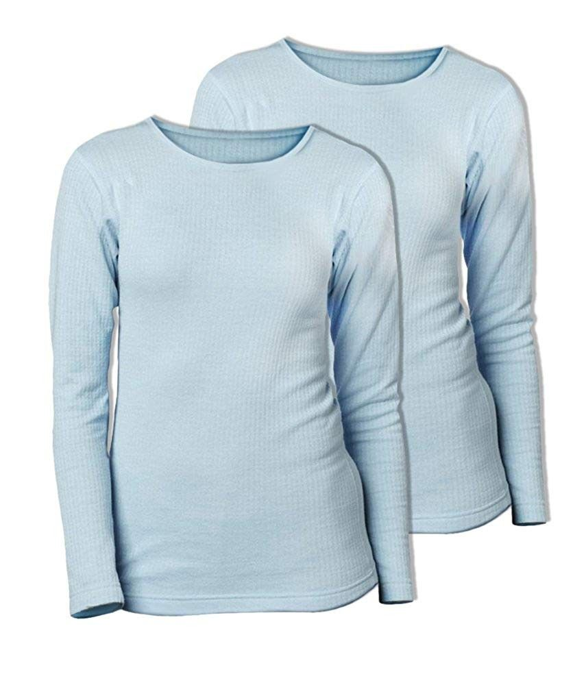 Women's Thermal Wicking Crew (Pack of 2) - Frost - CV12CTZK54V - Sports & Fitness Clothing, Women, B...