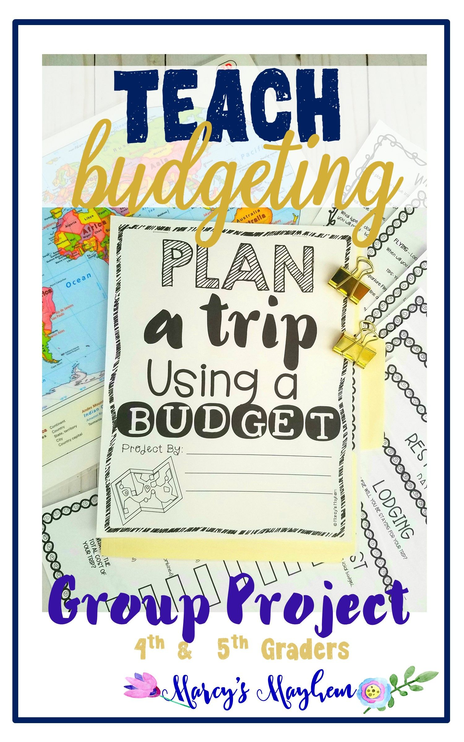 Math Project Based Learning Budgeting Worksheets Activity
