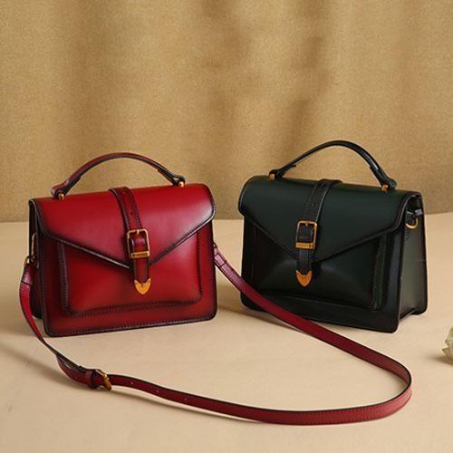 Genuine Leather Handbag Satchel Bag Shoulder Crossbody Clutch Purse For Women