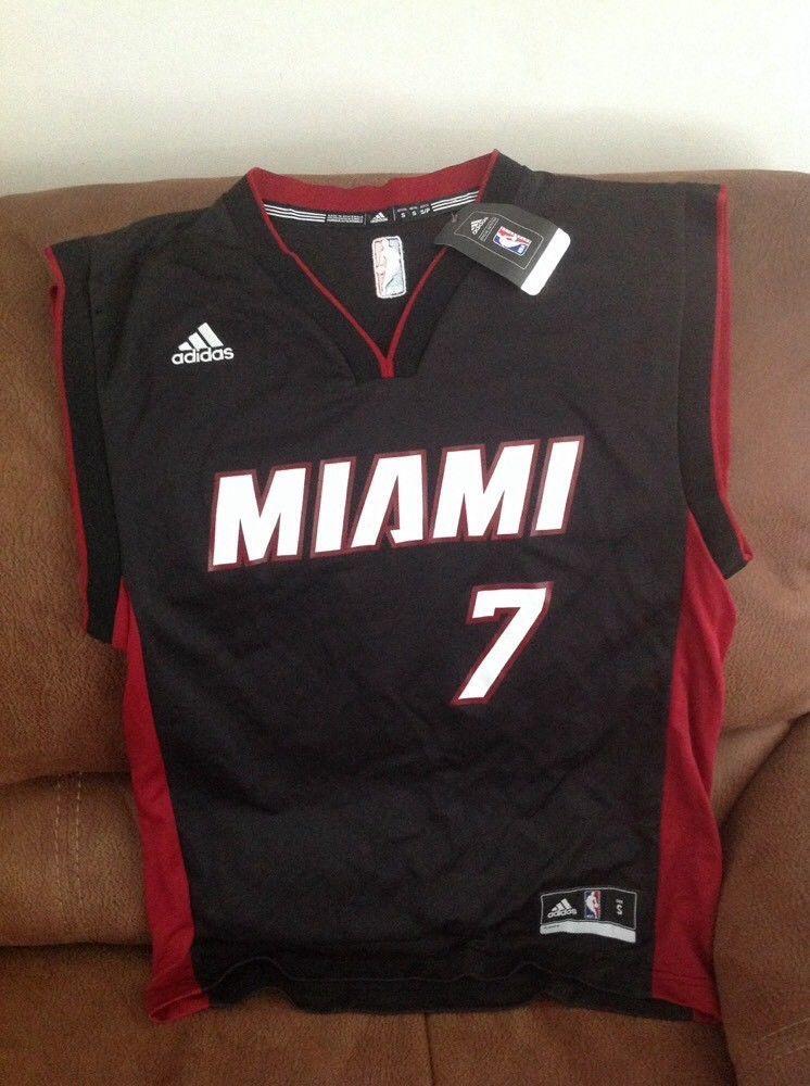 Adidas Miami heat goran dragic  7 basketball jersey NWT size S mens ... 1f9b22ca0
