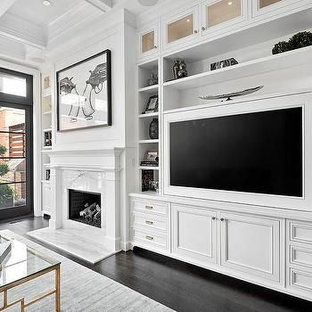 Living Room with Built In TV Cabinets | Decorating Ideas ...