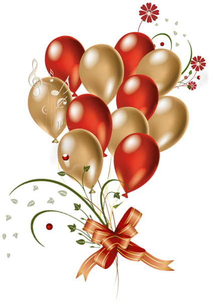 Transparent Red And Gold Balloons Clipart Balloons Balloon Clipart Gold Balloons