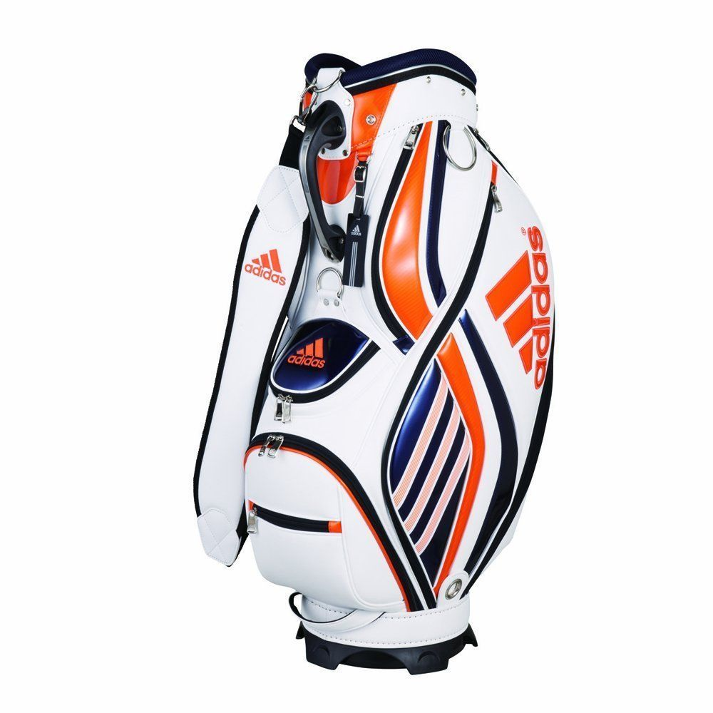 e7613f234772 Adidas Core Caddy Bag 3 Golf Caddy Bag Cart 47 in White Orange QR650 From  Japan  adidas