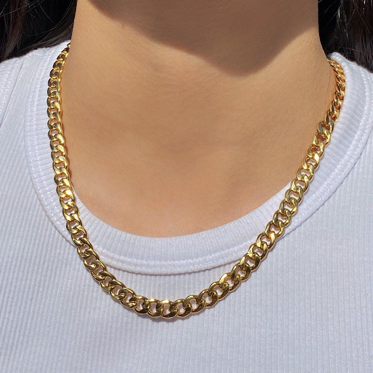 18K GOLD PLATED STAINLESS STEEL NECKLACE LOBSTER CLASP CLOSURE MULTIPLE LENGTHS AVAILABLE - SELECT SIZE AT CHECKOUT