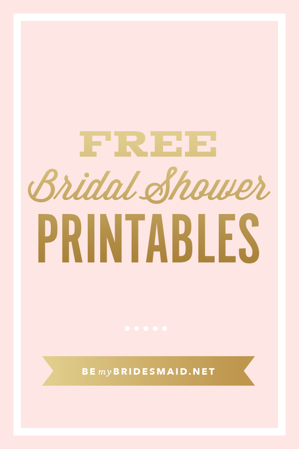 FREE Printables for Bridal Shower Planning Wedding Reception