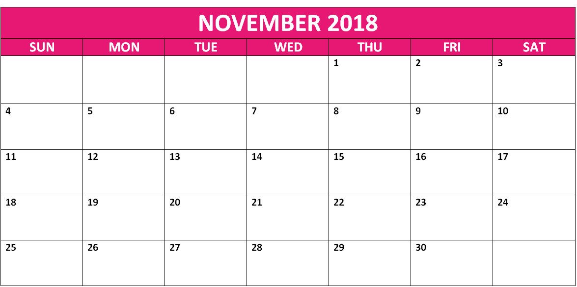 november 2018 calendar south africa with holidays