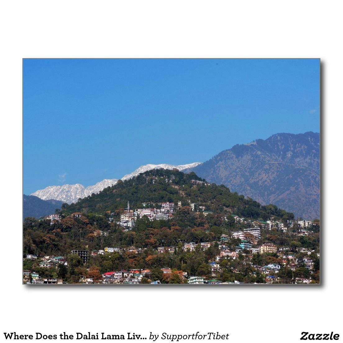 Where Does the Dalai Lama Live? Postcard   Zazzle com