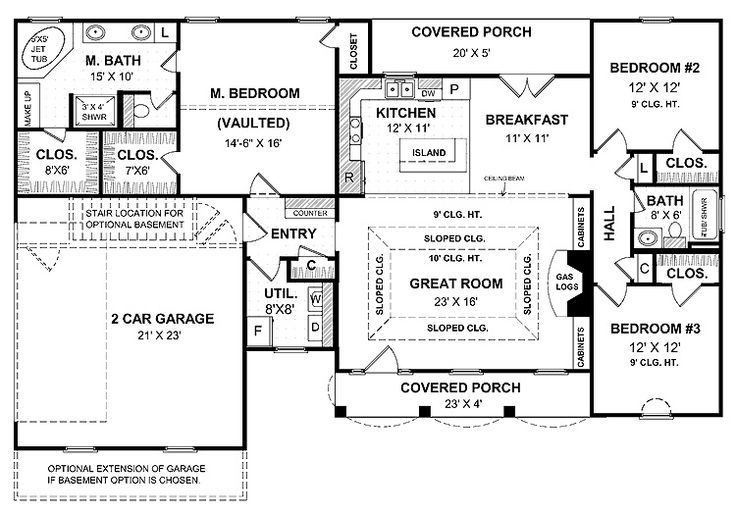 https images search yahoo com yhs search one story ranch rh pinterest com one story house plans with basement garage one story house plans with basement and porch