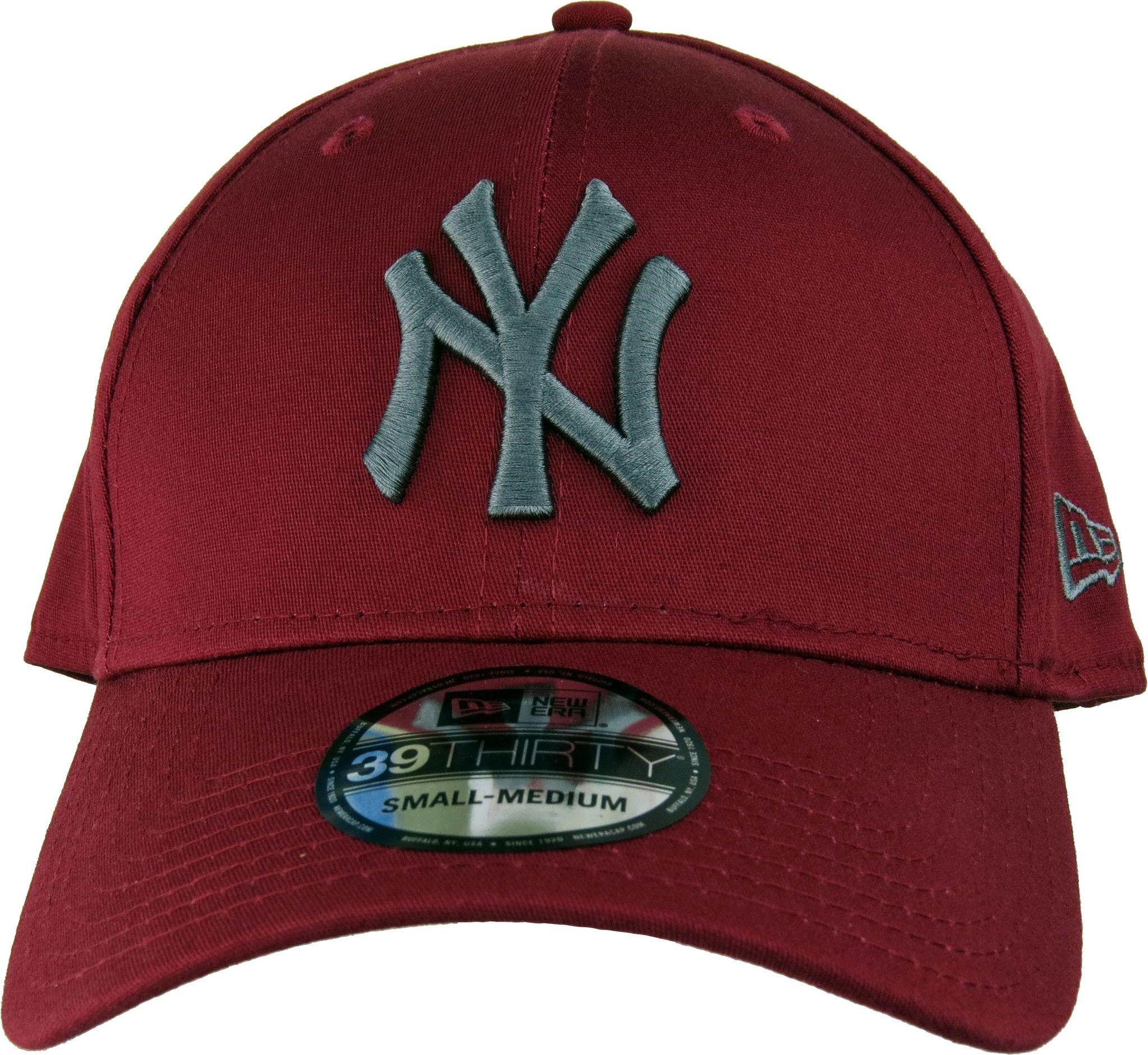 NY Yankees New Era 3930 League Essential Stretch Fit Baseball Cap -  Cardinal Graphitee - pumpheadgear 36ad0ca3601
