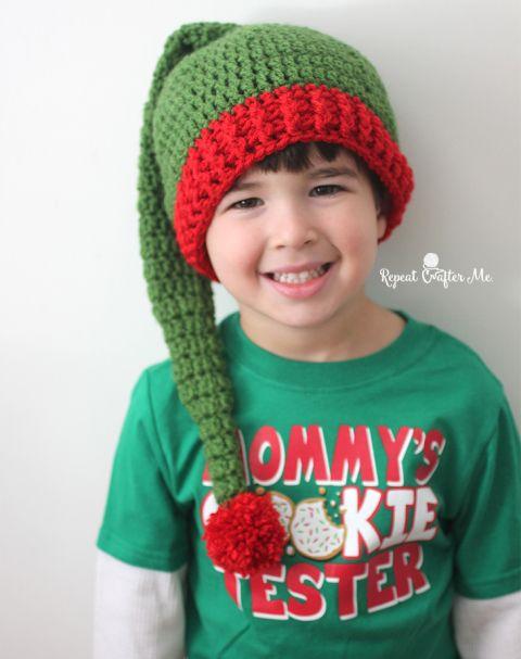 Crochet Elf Hat Pattern   Crochet Christmas Hat Beanie   Pinterest