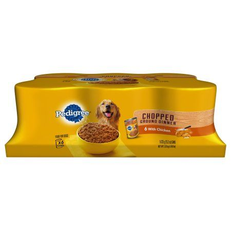 Pedigree Chopped Ground Dinner With Chicken Canned Dog Food 13.2 Ounces (Pack of 6)