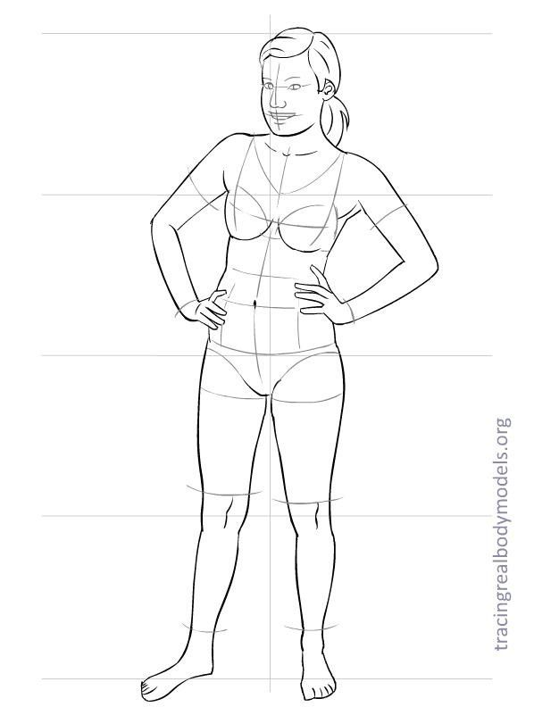 Tracing Real Body Models An alternative to the stereotypical - blank fashion design templates