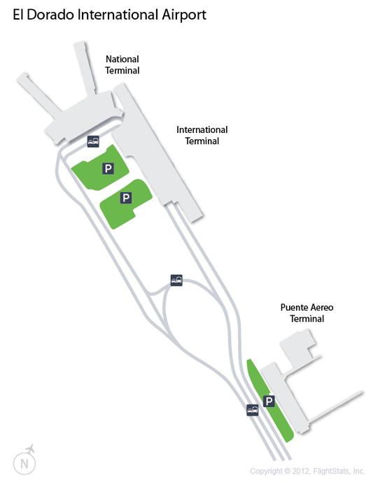El Dorado International Terminal Map Visit Us At Www Going2colombia Com Airport