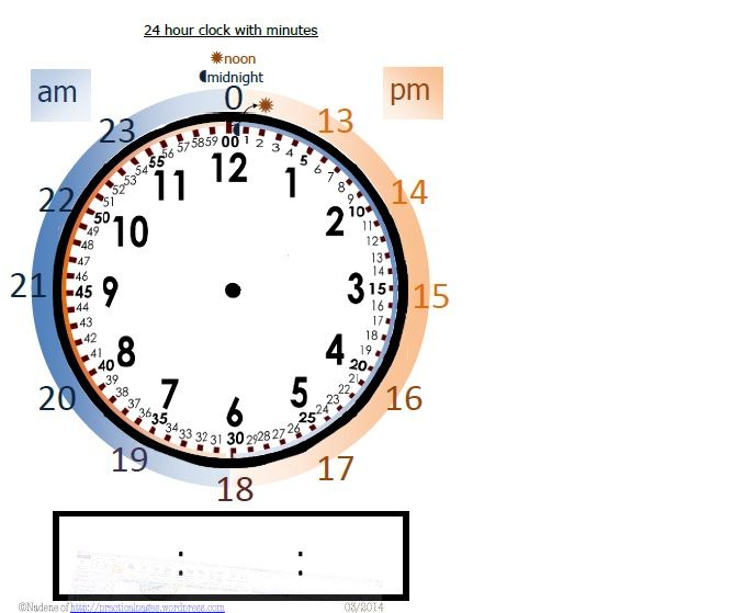 Teaching 24 Hour Clock | Math, Tags and Teaching