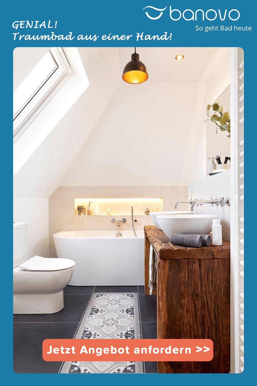 Genial Traumbad Aus Einer Hand Badsanierung Badezimmereinrichtung Badezimmer