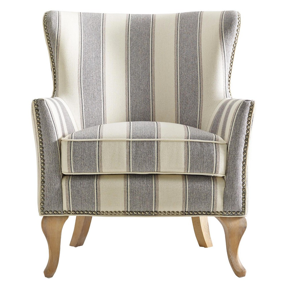Kerrie Accent Chair Gray Dorel Living Wingback