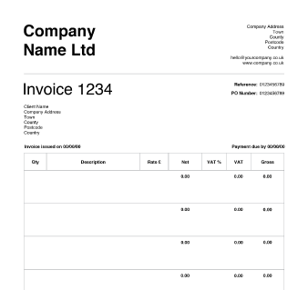 Free Invoice Templates  Crunch  Oozing Gloop