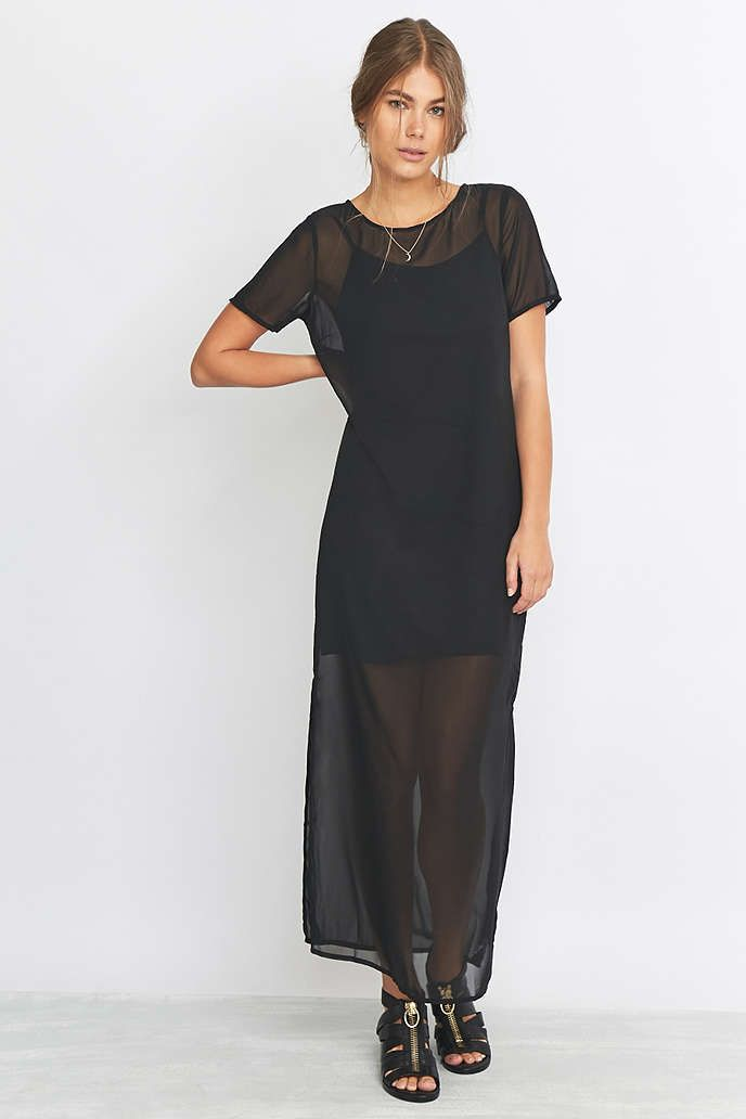 c2998c8cd96 Noisy May Graph Black Maxi Dress - Urban Outfitters  30