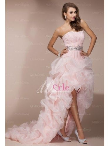7b41b519d8d Front Amazing A-Line Princess Sweetheart Sleeveless Asymmetrical Beading  Organza Dresses