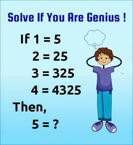 If 1=5 Then 5 = ?? Tricky Number Puzzles Patterns- With Answer ...