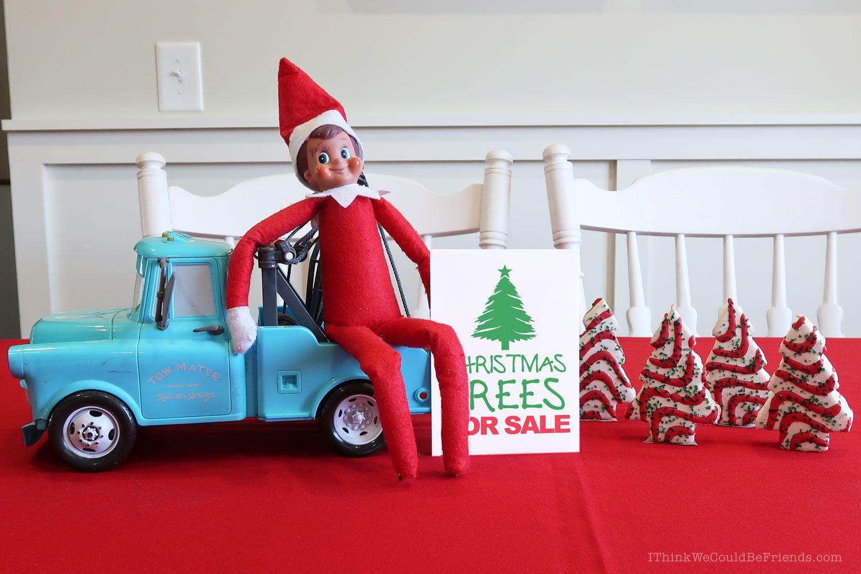 35 New Elf on the Shelf Ideas: #5 Christmas Tree Sale ...