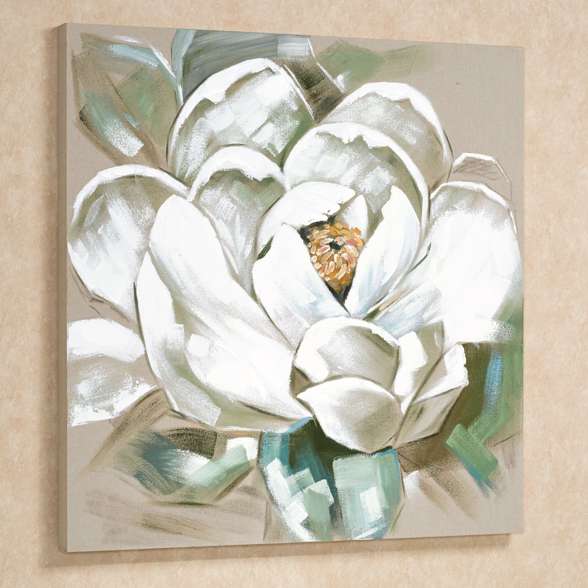 Jar of Magnolias Canvas Print Poster Wall Art or Flower Oil Painting Paper