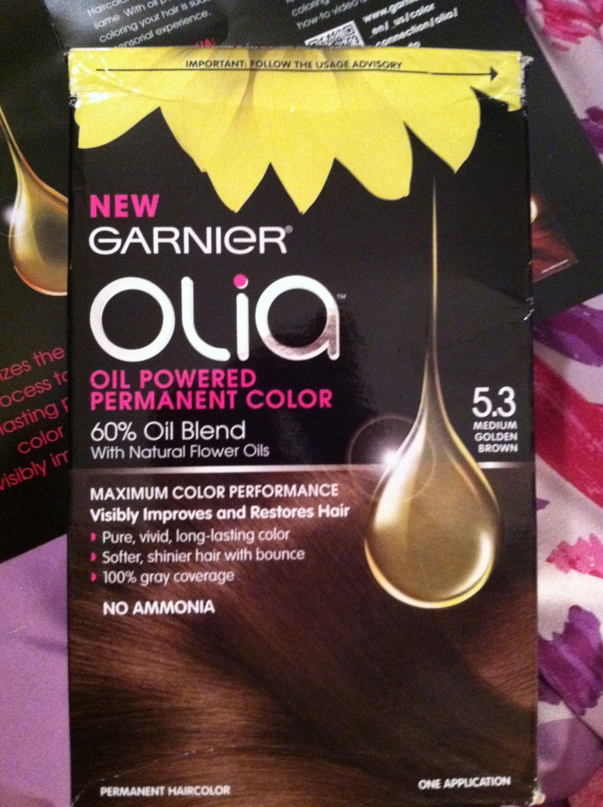 I Chose The 5 3 Medium Golden Brown Garnier Olia Hair Color I