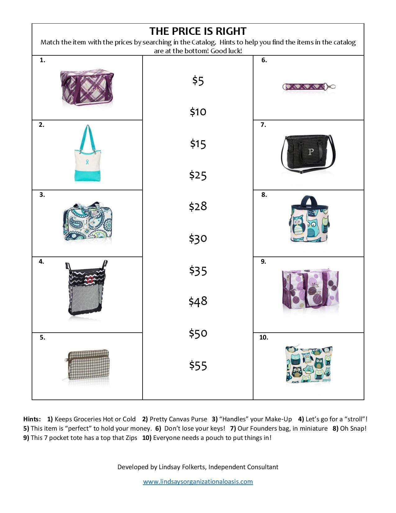 party games great for facebook parties for thirtyone consultants