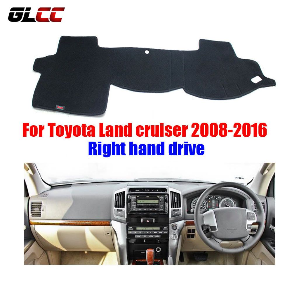 Car Dashboard Cover Mat For Toyota Land Cruiser 2008 2016 Right Hand Drive Dashmat Pad Dash Mat