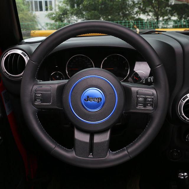 Creative Stickers Car-styling Aluminum Steering Wheel Decoration ...