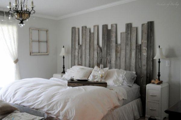 lumberjack style tumblr | tête de lit fabriquée avec du bois de