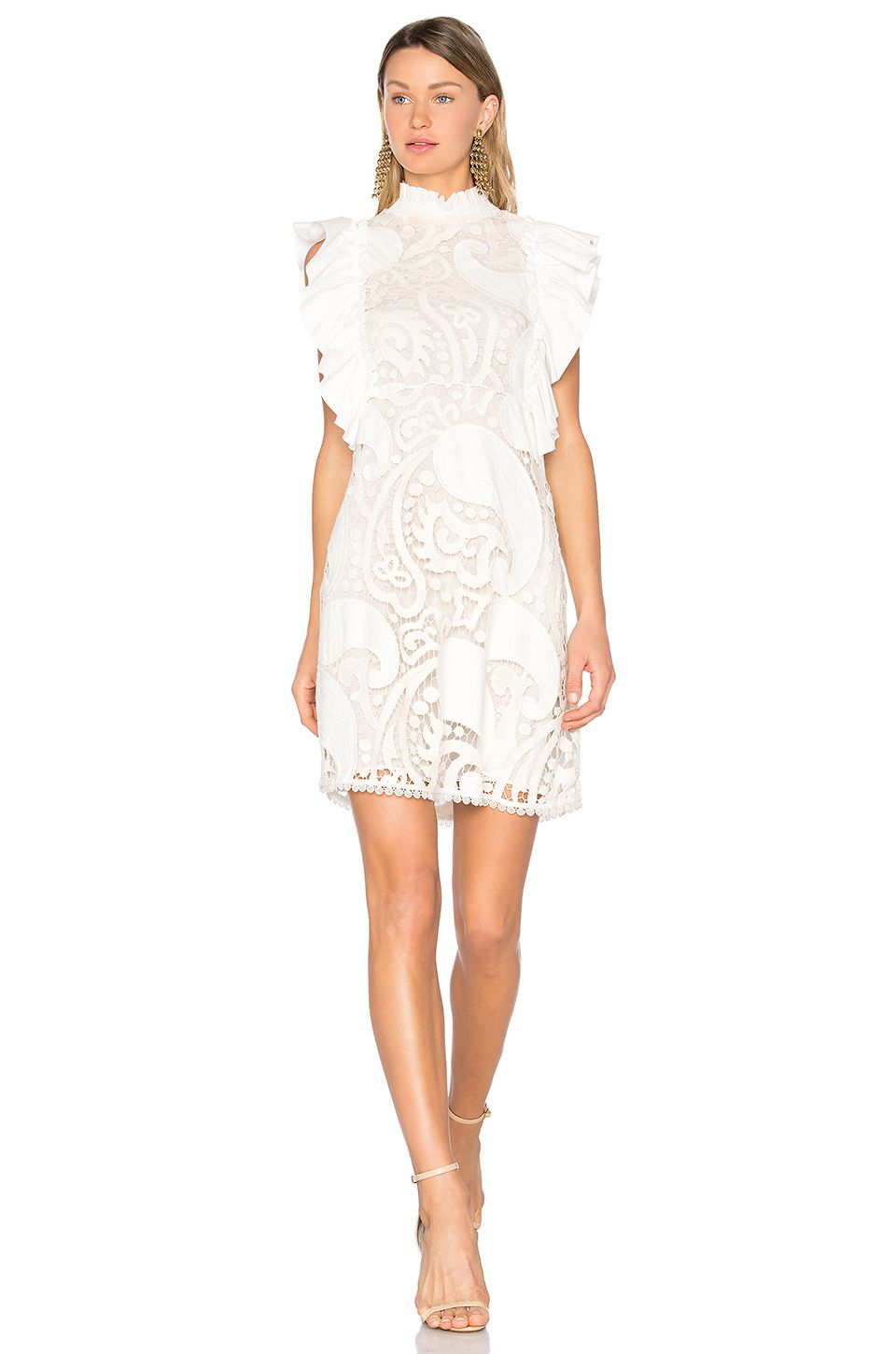 See By Chloe Lace Sheath Dress In Natural White Revolve Lace White Dress Lace Sheath Dress Lace Dress [ 1450 x 960 Pixel ]