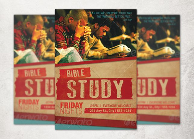 Church Bible Study Flyer Template Graphic Design Pinterest - Bible study flyer template free