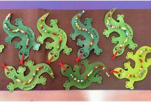 Lizard craft preschool | funnycrafts