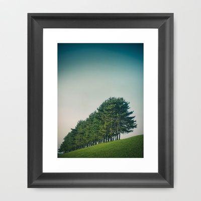 Trees Framed Art Print by Jean-François Dupuis - $40.00