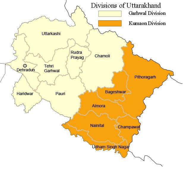 Kumaon Garhwal - Garhwali language - Wikipedia, the free - new world map blank wikipedia