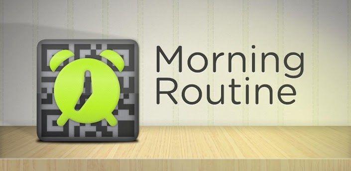 Morning Routine Freean app that makes you scan something