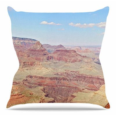 """East Urban Home Grand Canyon Panoramic by Sylvia Coomes Throw Pillow Size: 16"""" H x 16"""" W x 4"""" D"""